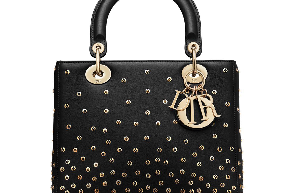 dior medium embroidered leather lady dior bag