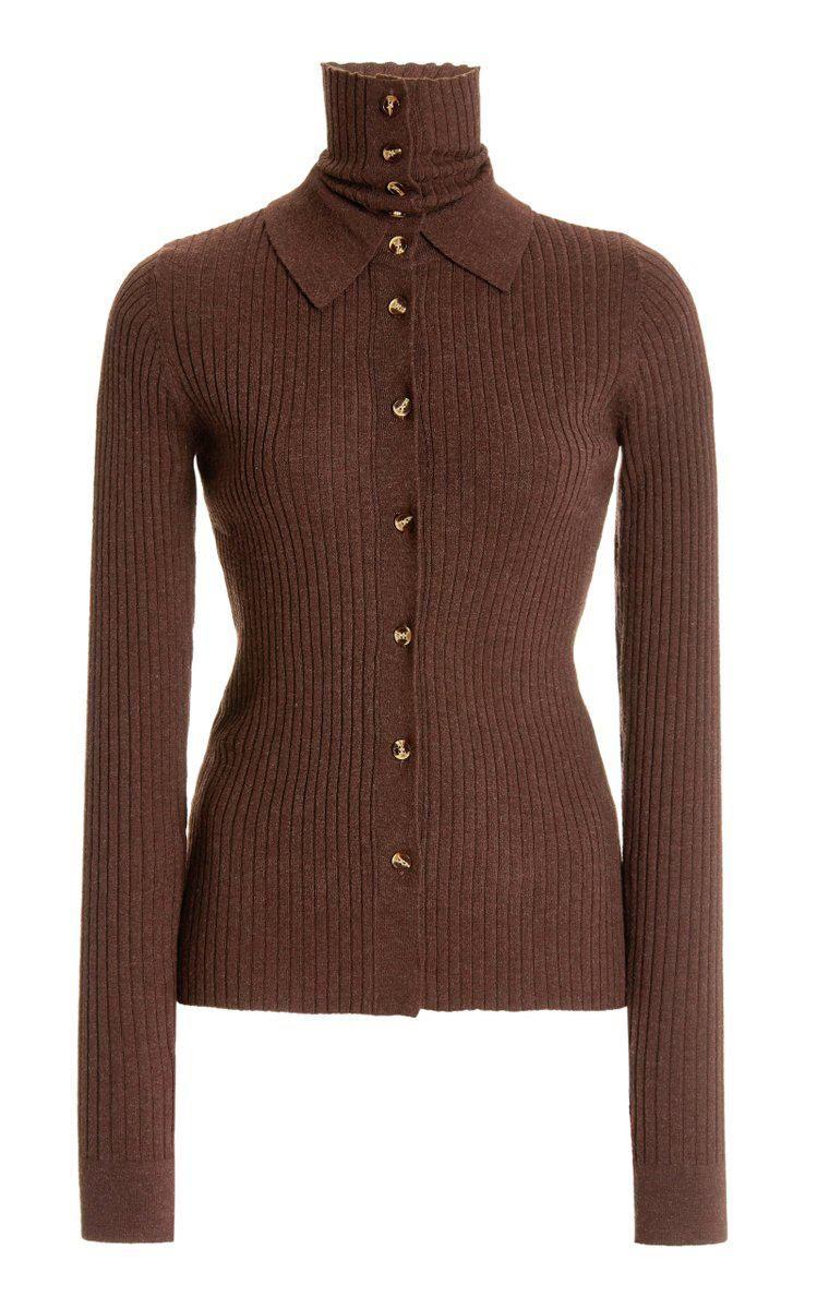 dodo bar or ralph layered ribbed knit top