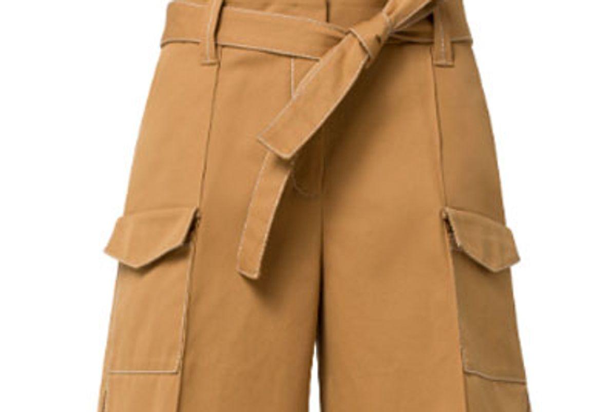 dorothee schumacher ss19 belted cotton shorts