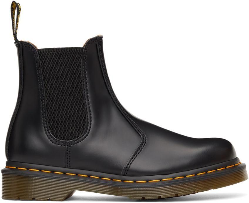 dr martins black 2976 chelsea boots