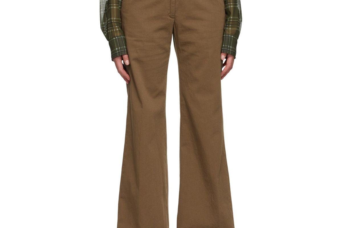 dries van noten twill oversized trousers
