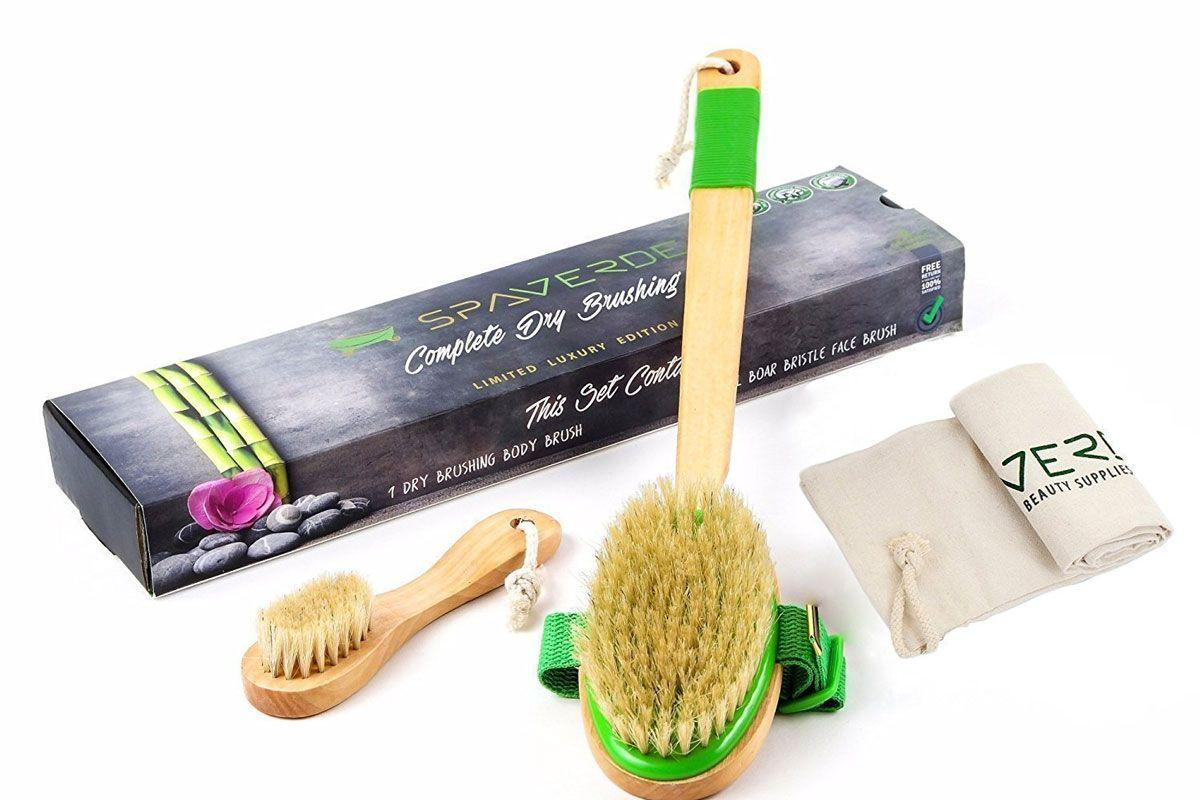 spaverde dry brushing body brush
