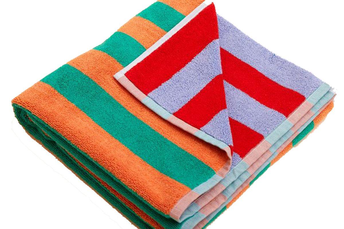 dusen dusen warm stripe bath towel