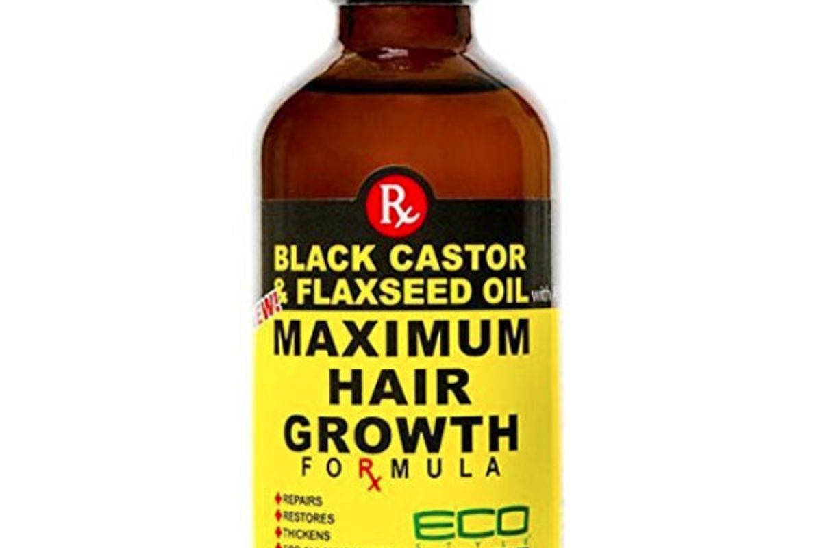 eco style black castor and flaxseed oil maximum hair growth formula