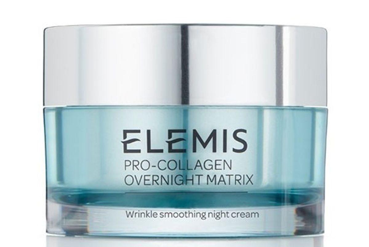 elemis pro collagen overnight matrix wrinkle smoothing night cream