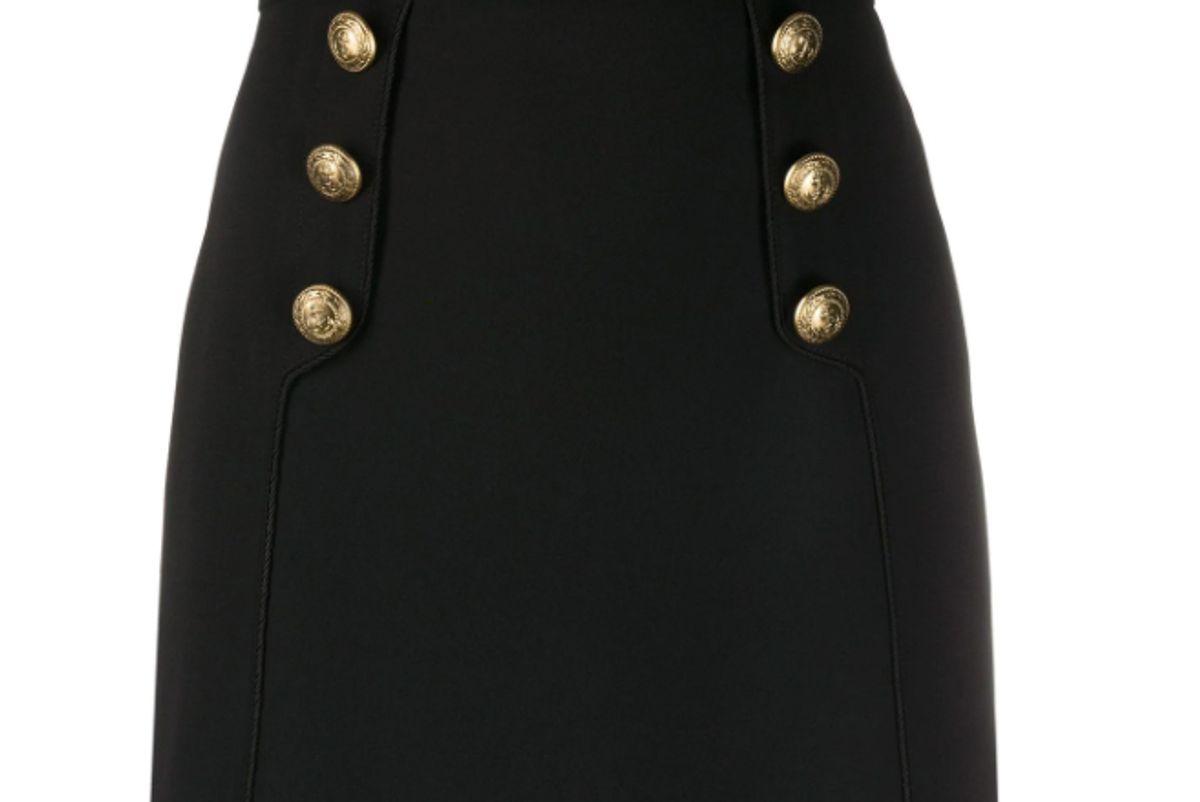elisabetta franchi button embellished mini skirt