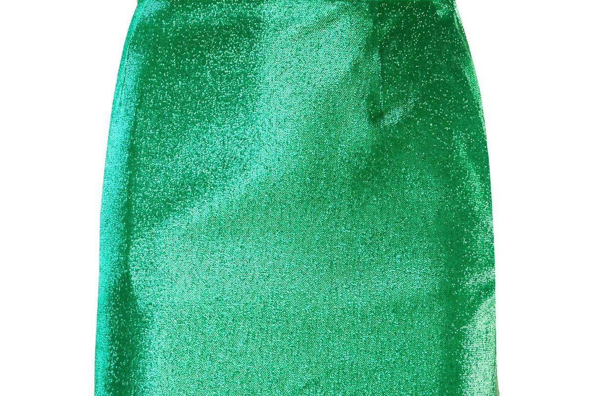 elisabetta franchi glitter mini skirt