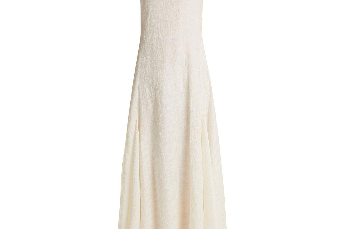 elizabeth and james lenox linen and silk blend dress