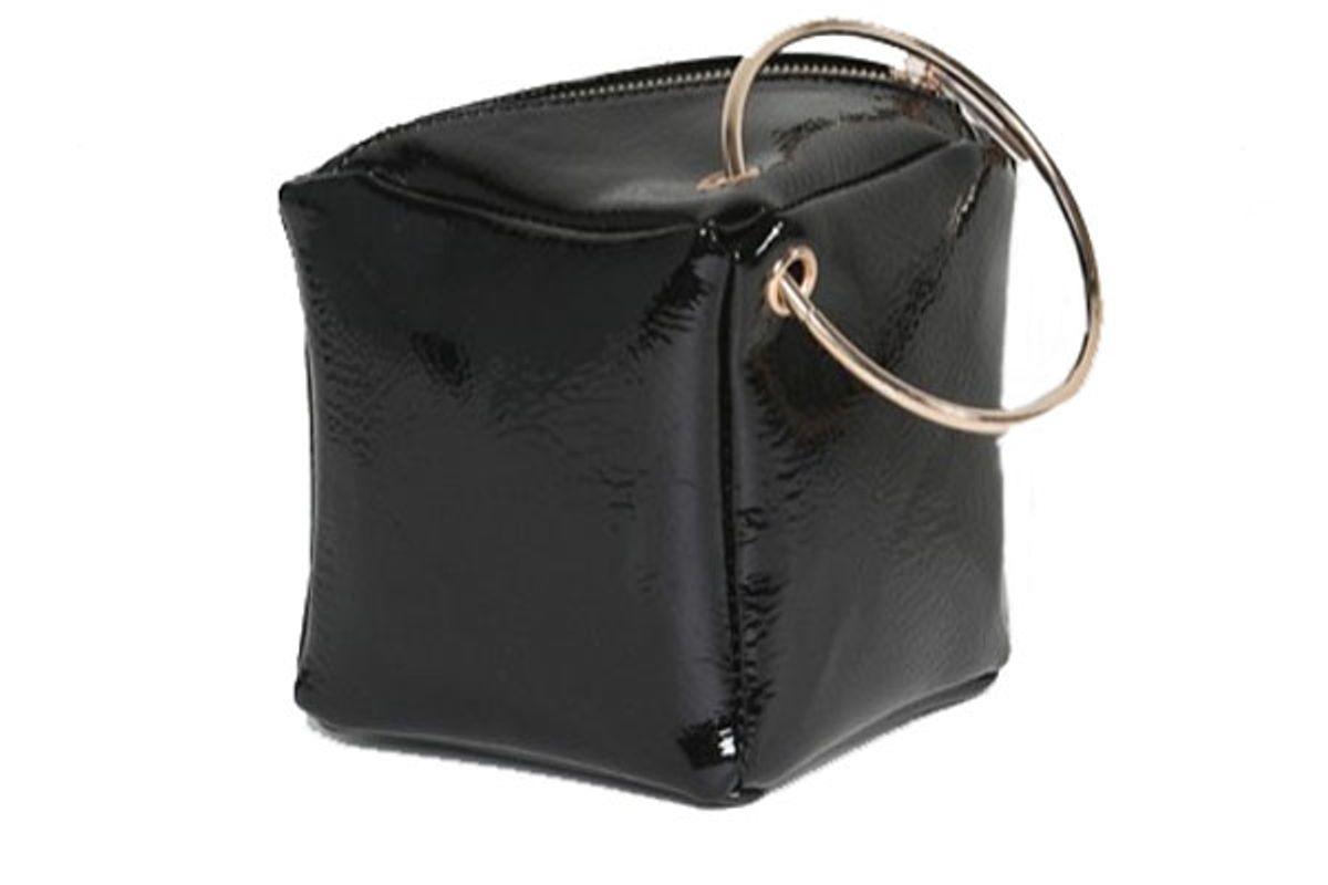 Patent Cube Grab Handle Clutch bag