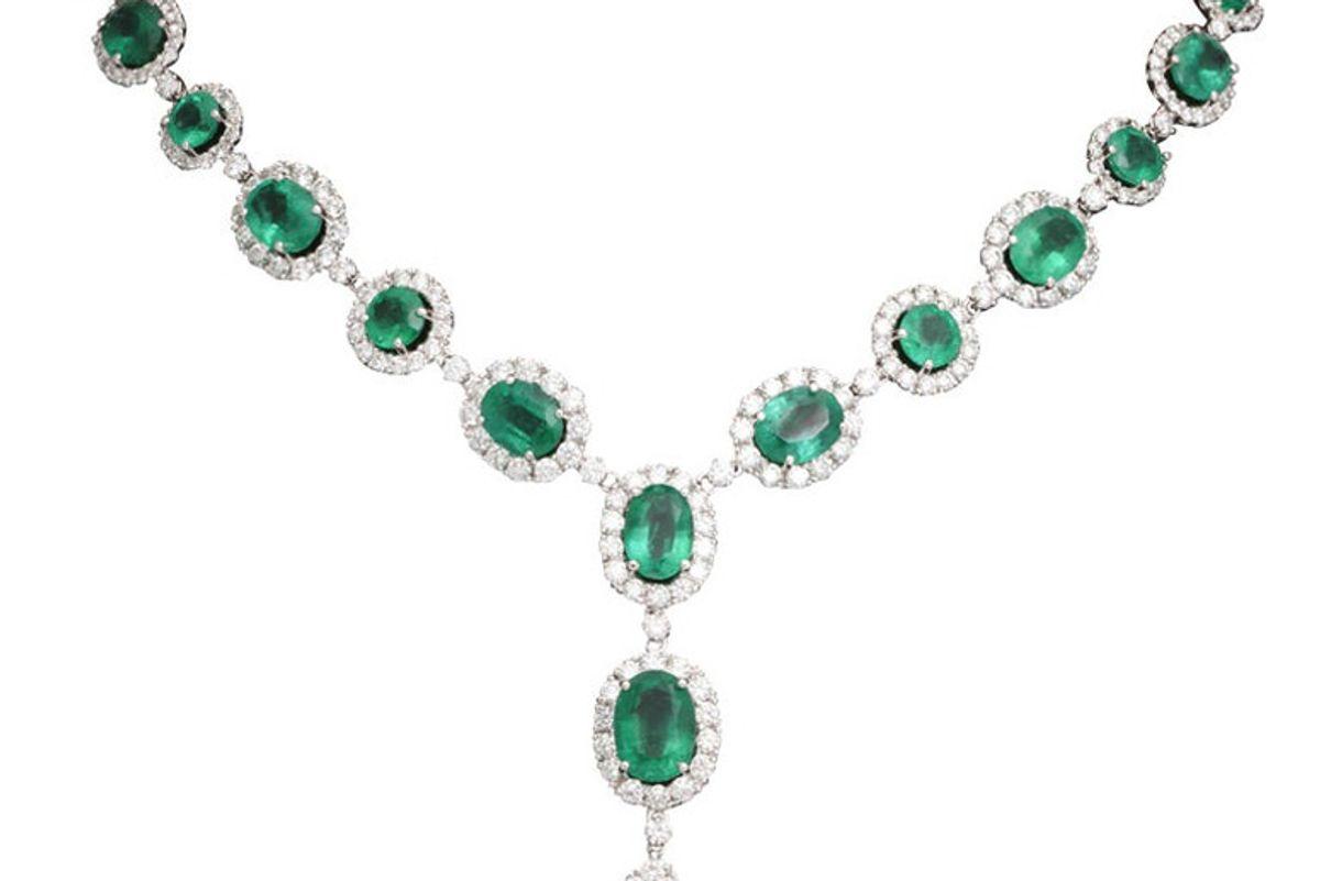 diamond scene new york emerald and diamond necklace