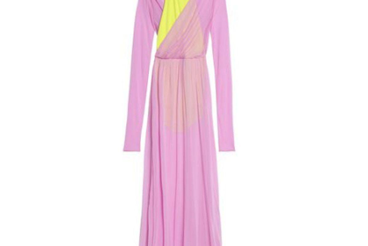 emilio pucci two tone jersey gown