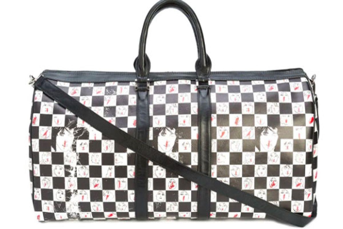 enfants riches deprimes checkered duffle bag