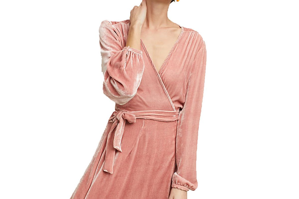 Yumi Kim Velvet Wrap Mini Dress