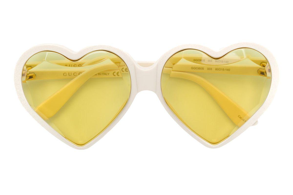 gucci heart sunglasses