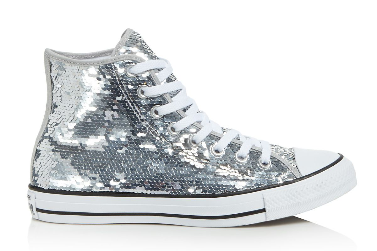 converse chuck taylor all star sequined high top sneakers