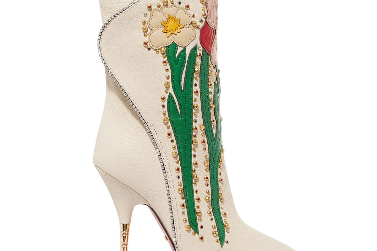 gucci fosca crystal embroidered bootie