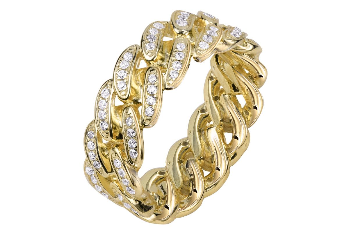 the m jewelers the iced cuban link ii ring