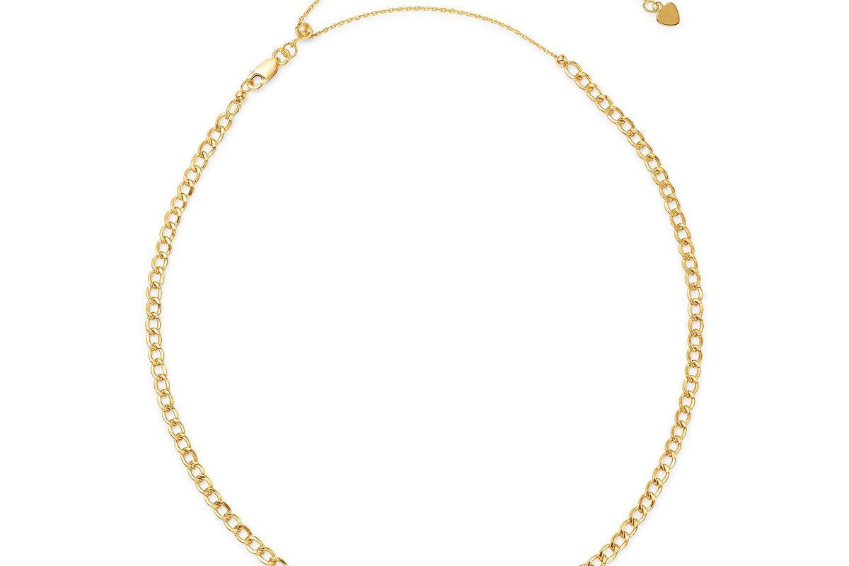zoe lev 14k yellow gold cuban link choker 15 inch