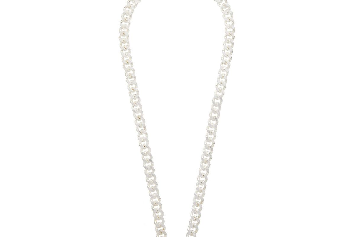 pearls before swine cuban link sterling silver necklace