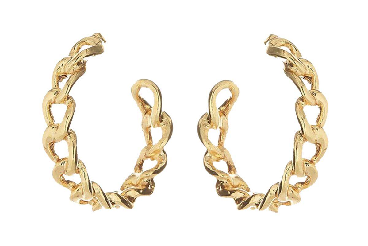 oscar de la renta chain link hoop earrings