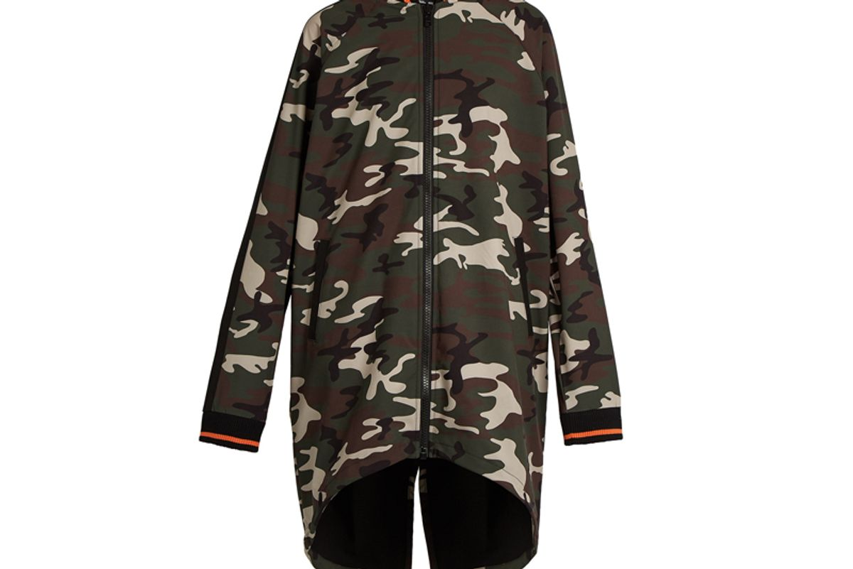 Camouflage-Print Drawstring Jacket