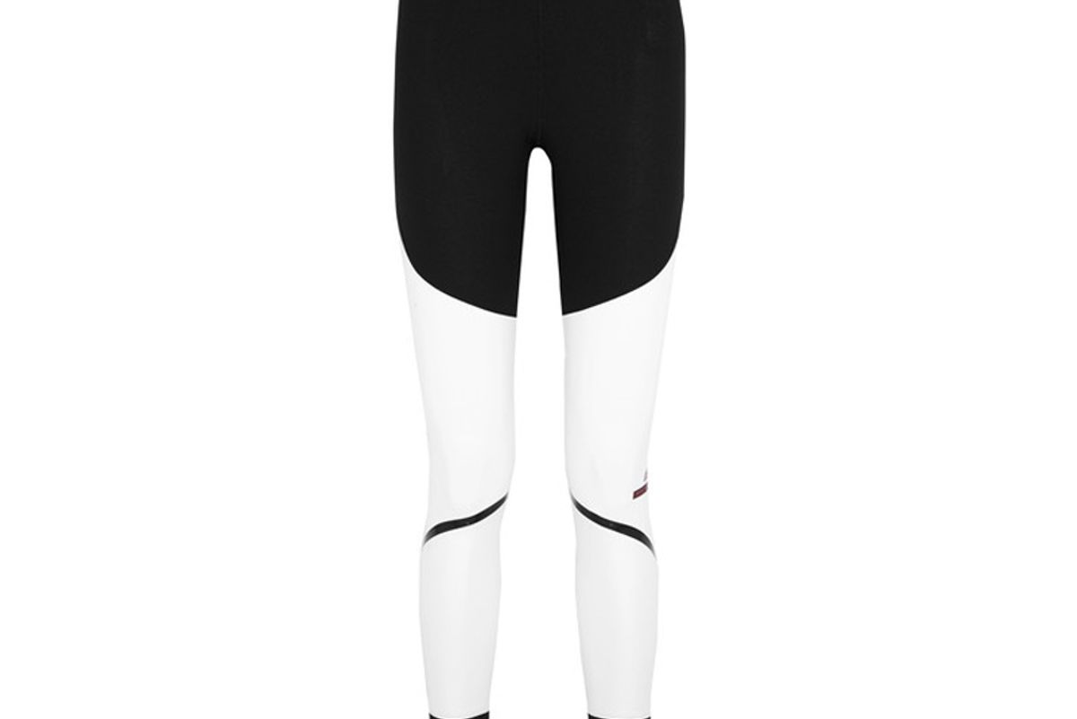 By Stella McCartney Train Tight Paneled Climalite Stretch-Jersey Leggings
