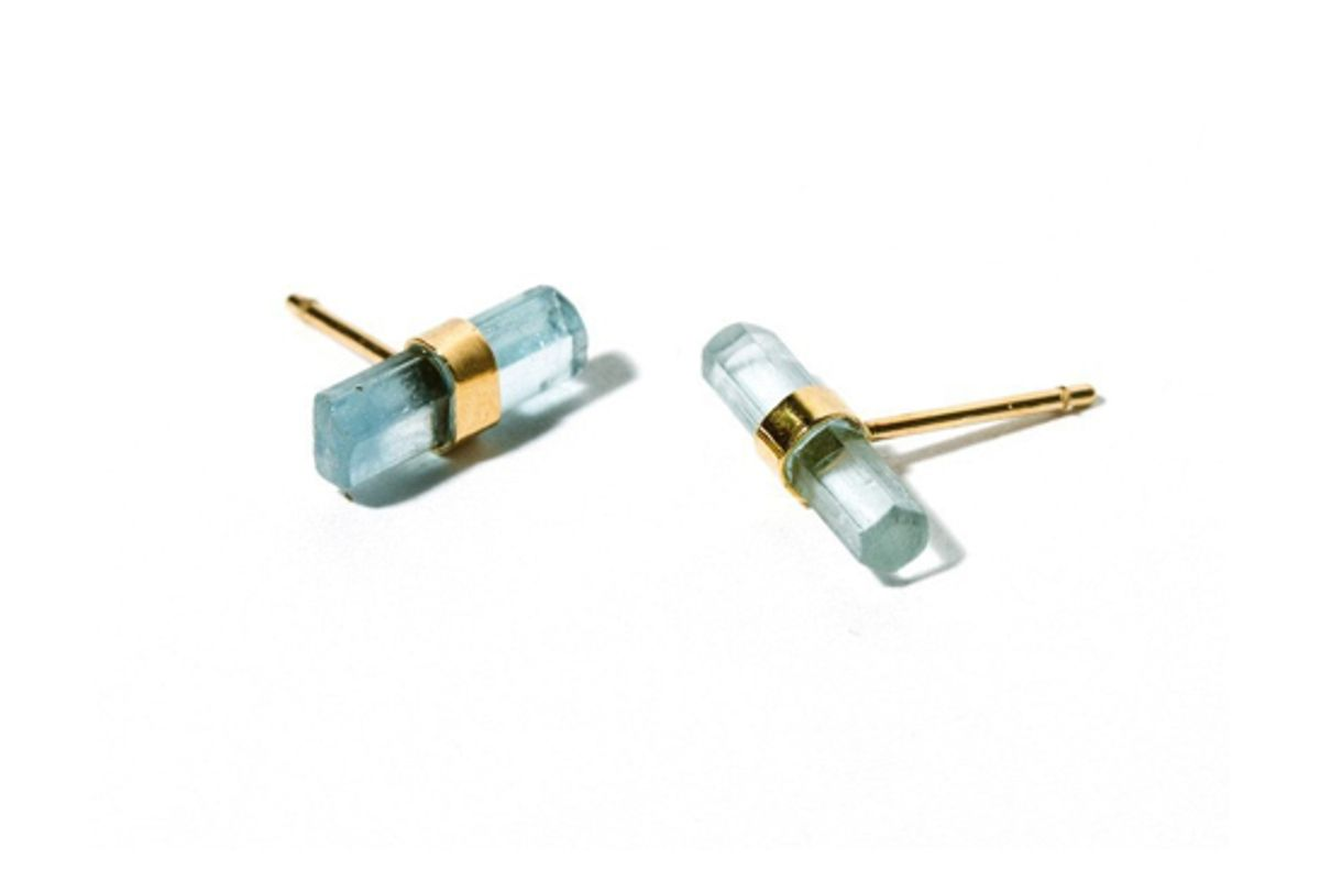 bltn crystal bar single stud earring