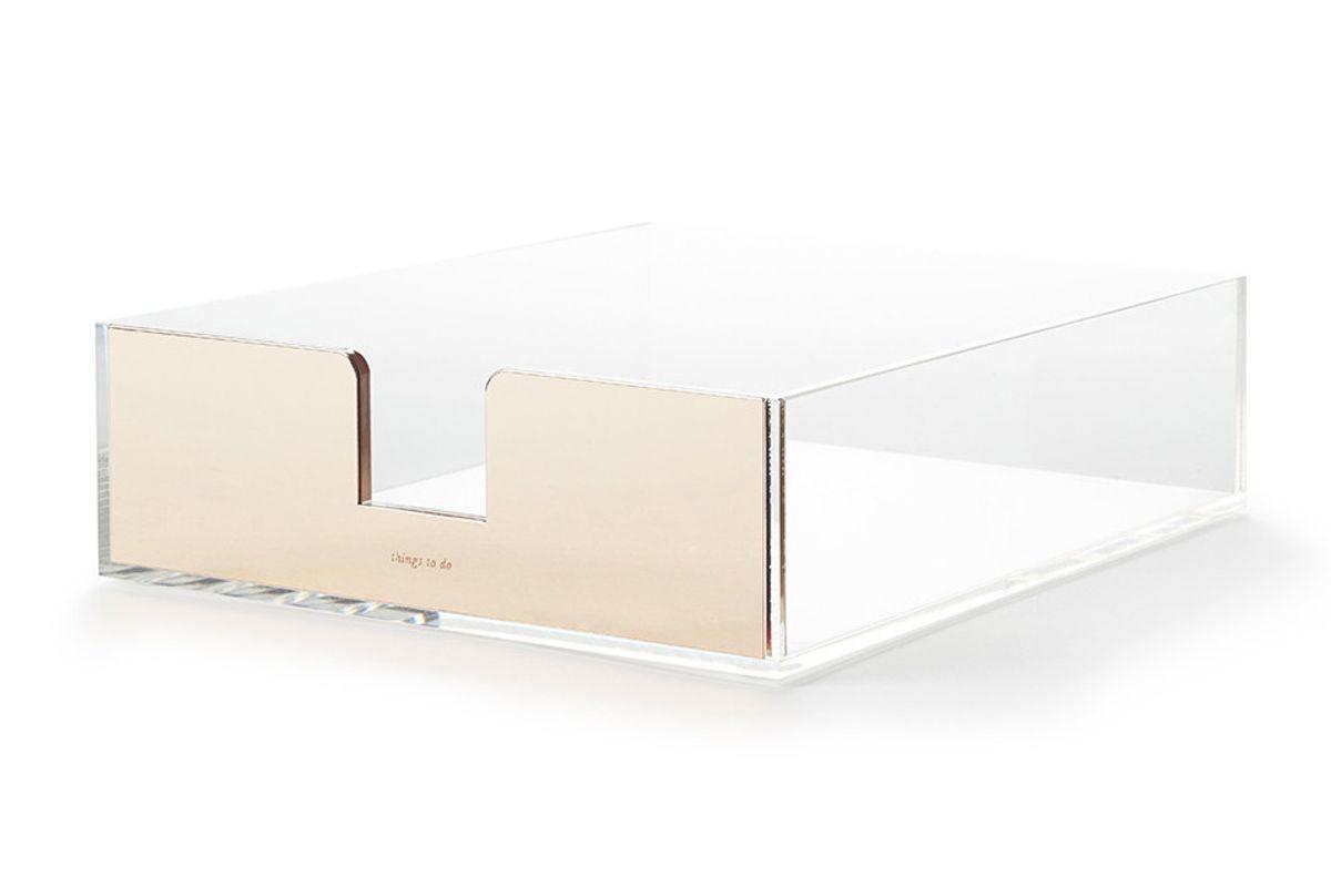 Strike Gold Desk Tray