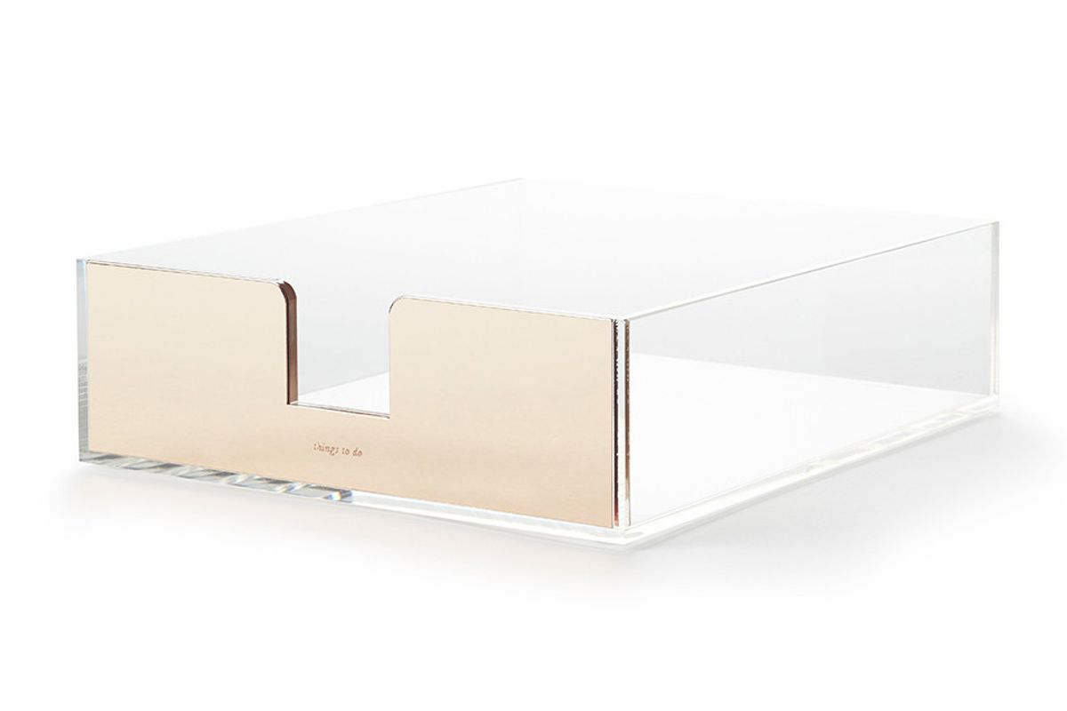 Strike Gold Desk Tray