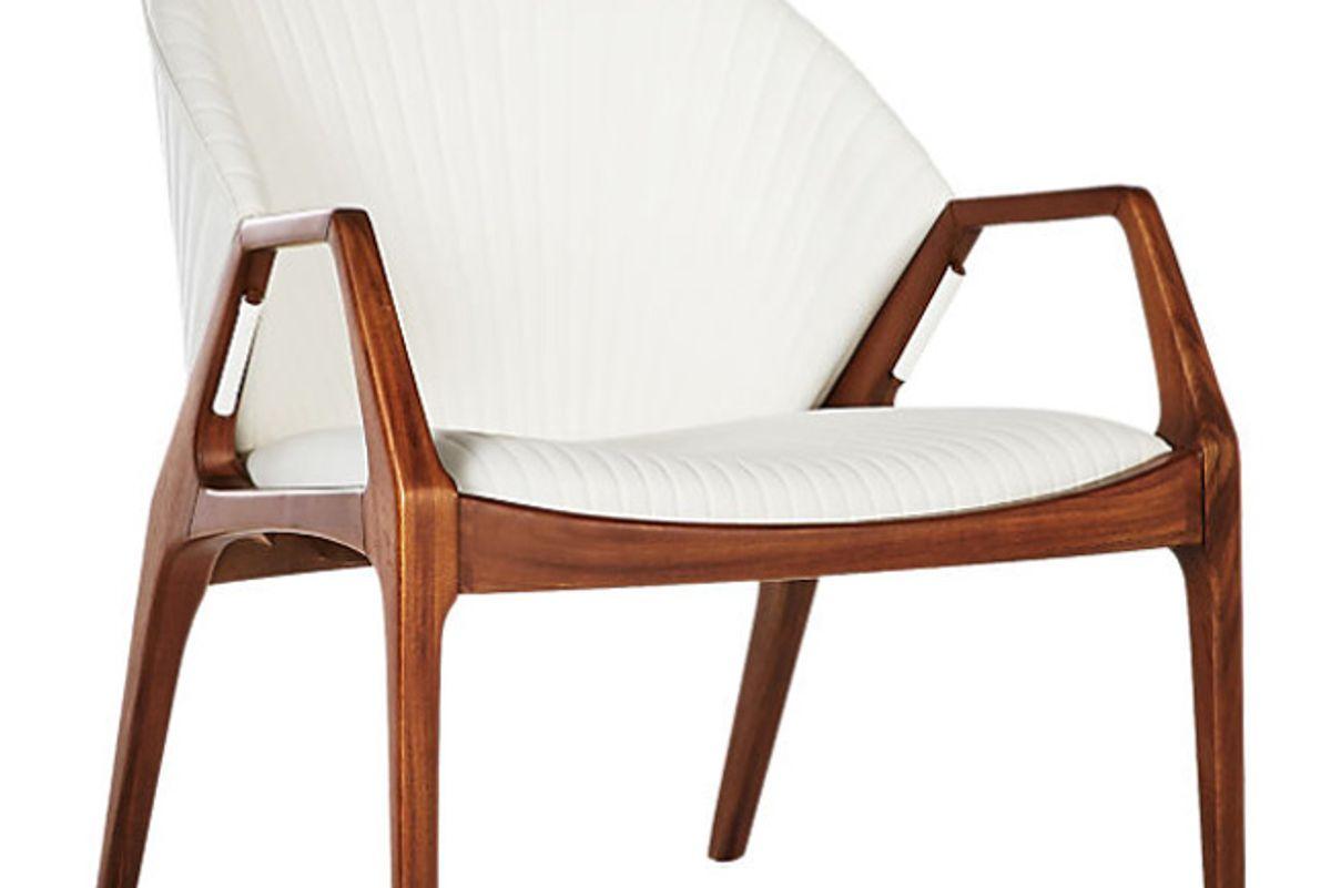 cb2 luisa white chair