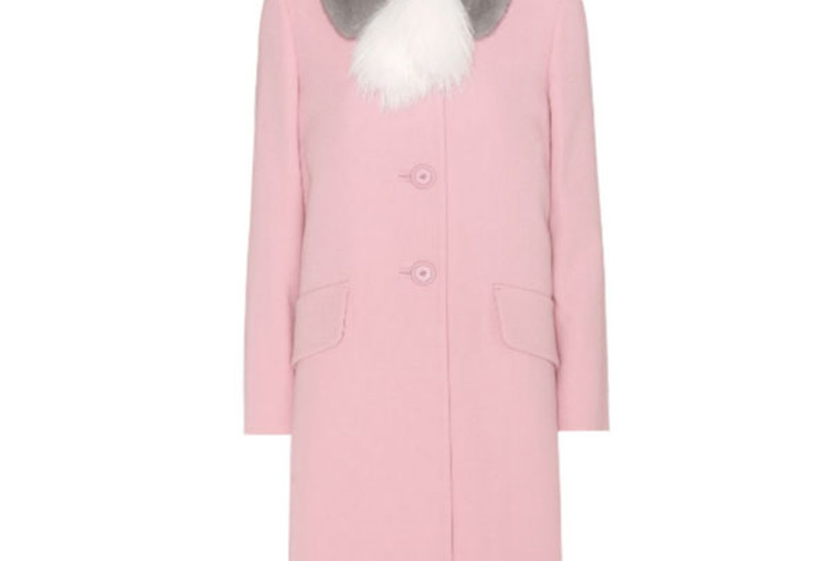 Virgin Wool Coat with Fur
