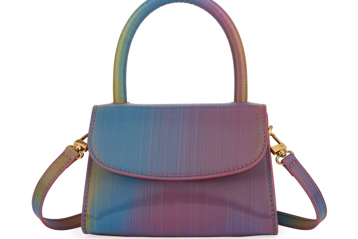 by far mini rainbow leather top handle bag