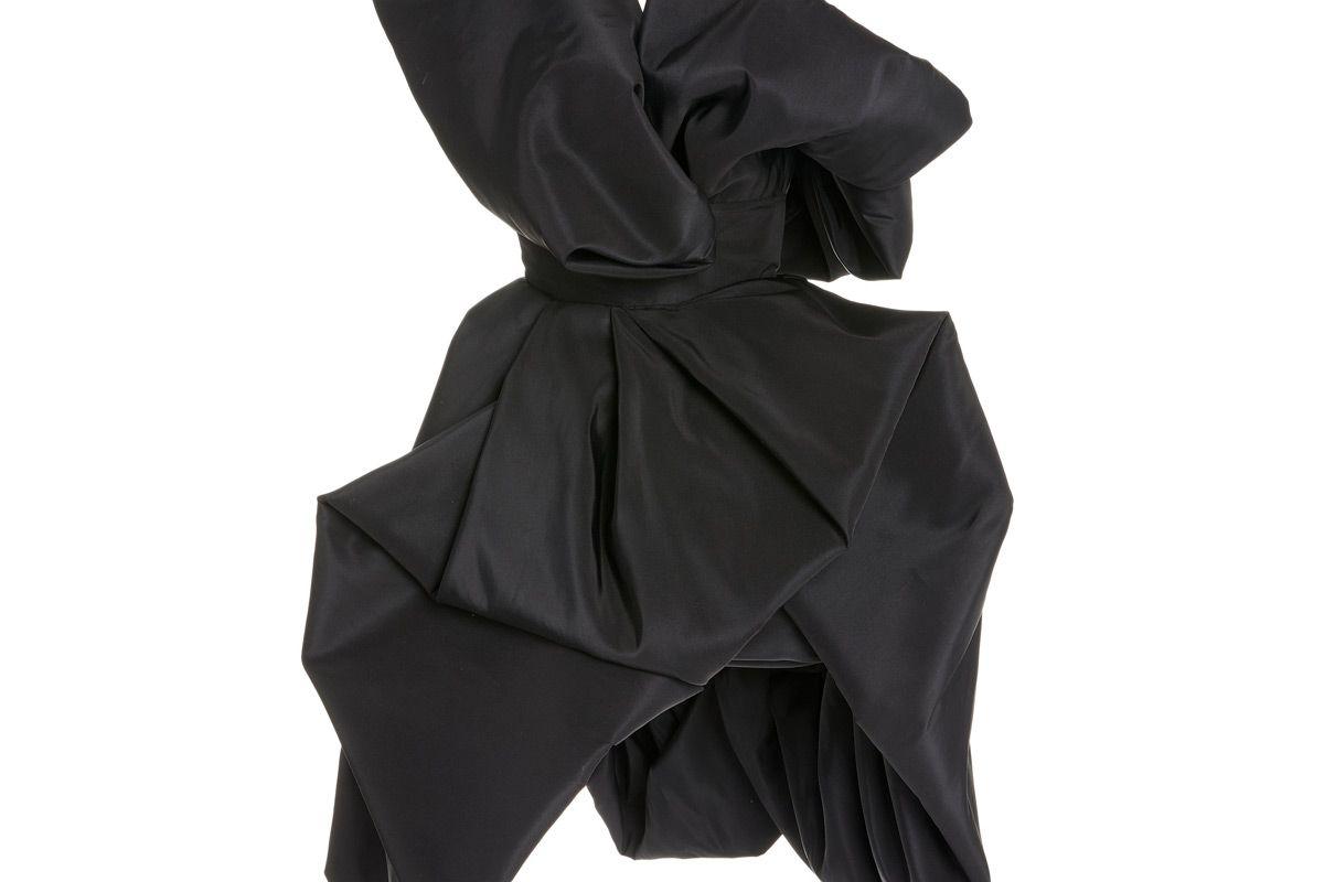 oscar de la renta silk faille cocktail dress