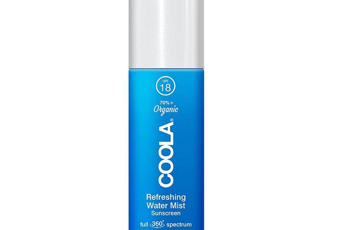 coola organic refreshing water mist sunscreen spf 18