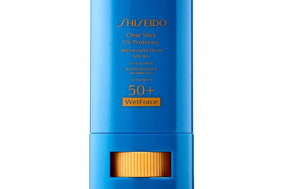 shiseido clear stick uv protector wetforce broad spectrum sunscreen spf 50 plus
