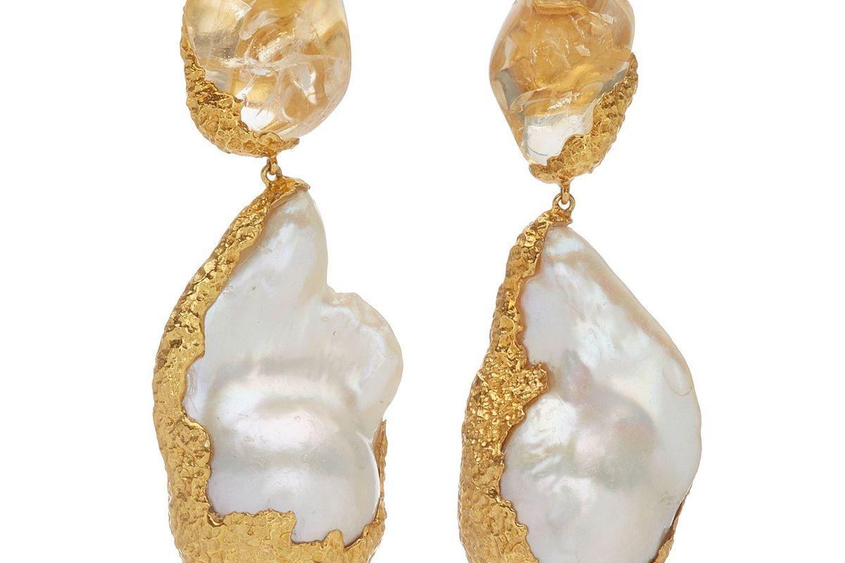 pacharee 18k yellow gold citrine dhin earrings