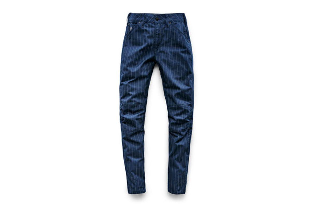 Elwood X25 3D Boyfriend Women's Jeans in Pinstripe Print