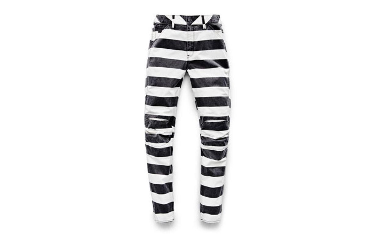 Elwood X25 3D Boyfriend Women's Jeans in Prison Stripe Print