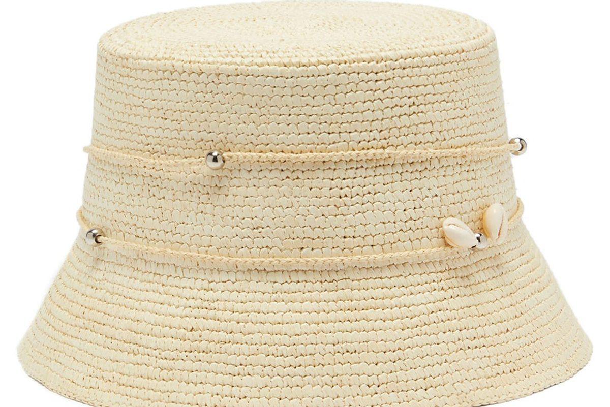 sensi studio lampshade shell toquilla straw bucket hat