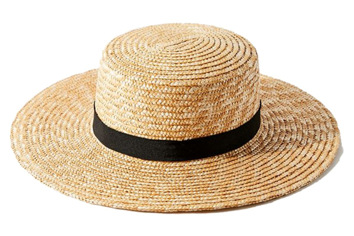urban outifiters uo straw boater hat