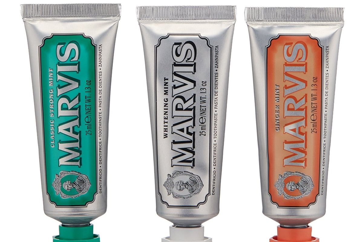 marvis travel with flavor toothpaste set