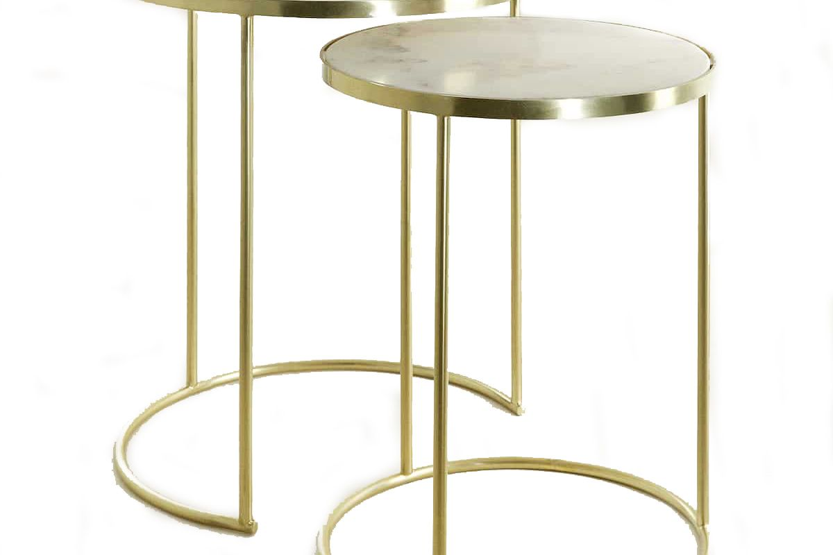 zara home gold marble nest of tables set of 2