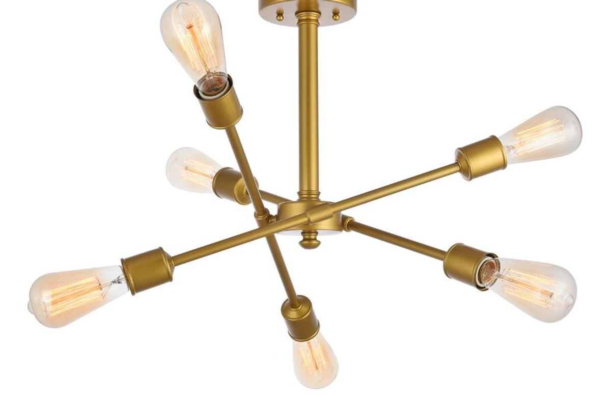 all modern johanne 6 light sputnik chandelier