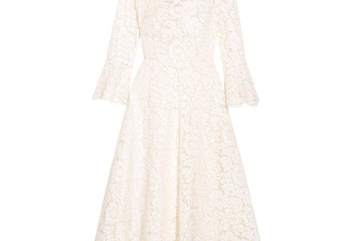 Corded Cotton-Blend Guipure Lace Midi Dress