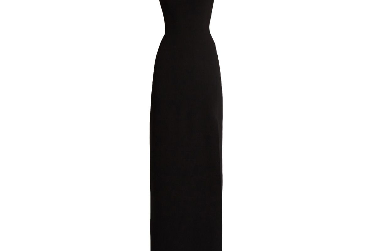 Open-Back Stretch-Cady Gown