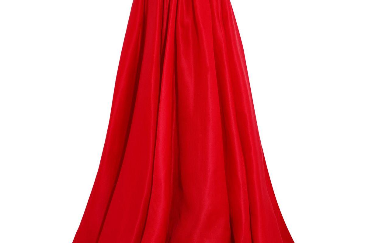 Pleated Silk-Gazar Maxi Skirt