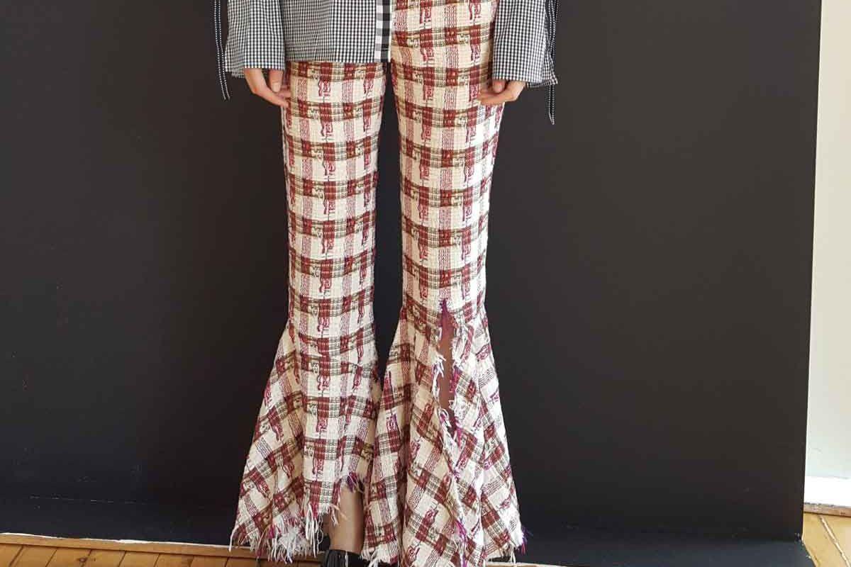 Tweed Flared Pants