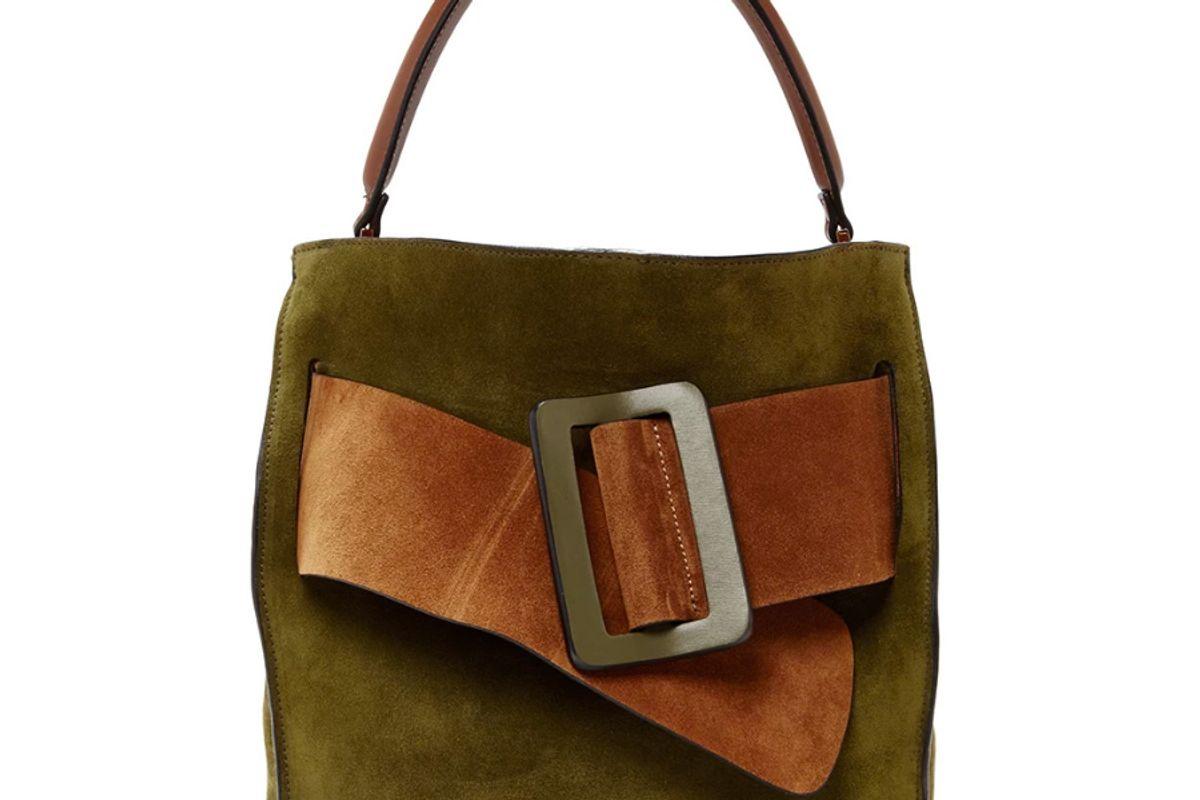 Colorblock Suede Devon Bag