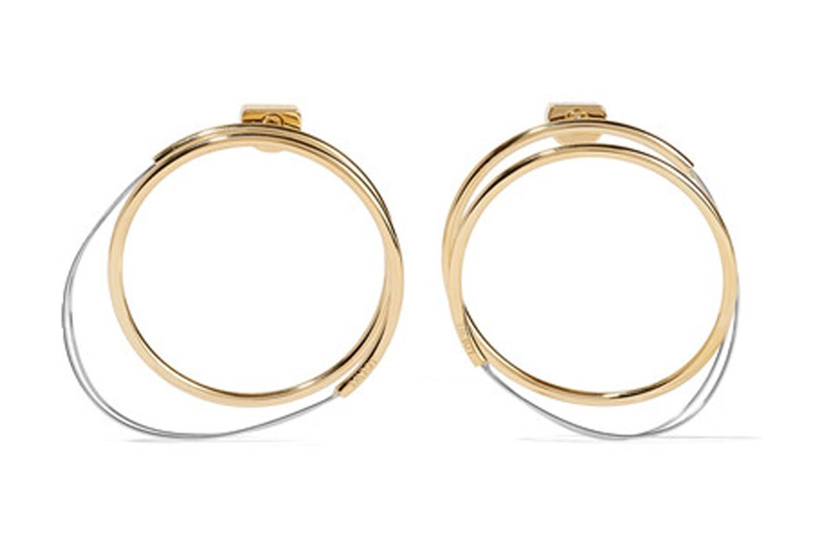 Gold and Silver-Tone Hoop Earrings
