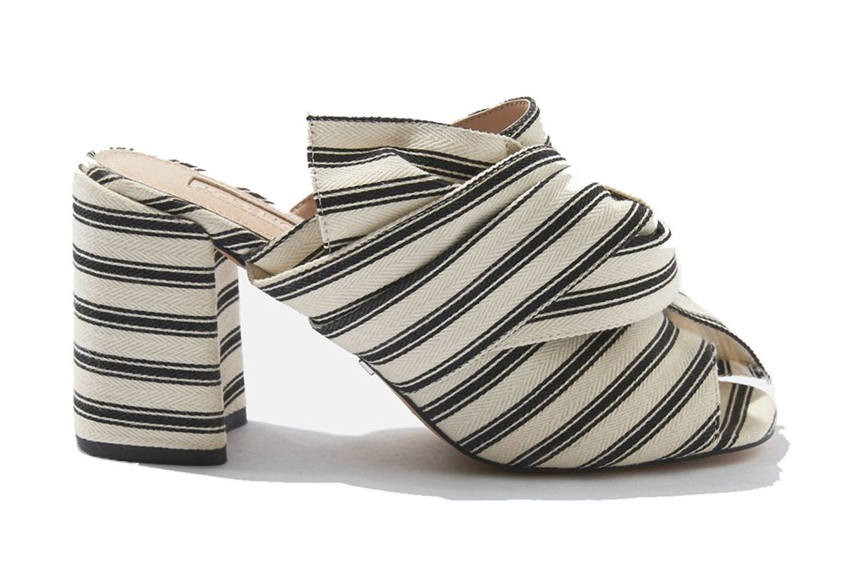 Rome Fabric Knot Mules